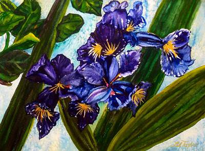 Spring Bulbs Painting - Flowers In Your Hair I by Lil Taylor