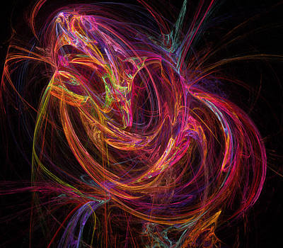 Fractal Digital Art - Flowing Energy by Ricky Barnard