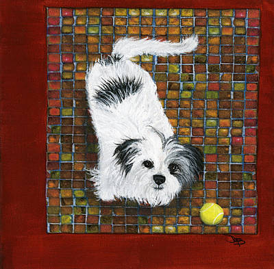 Pooch Painting - Fluffy The Fluffmeister by Debbie Brown