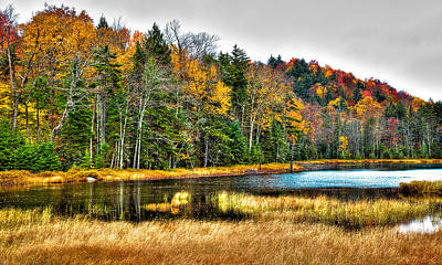 Mountain Photograph - Fly Pond On Rondaxe Road II by David Patterson