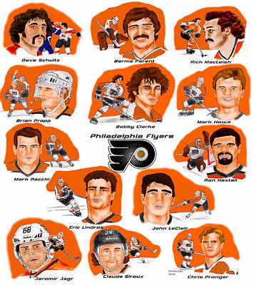 Flyer Greats In Color Print by Chris  DelVecchio