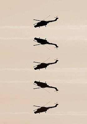 Helicopter Digital Art - Flying High by Sharon Lisa Clarke