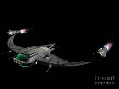 Flying Machine Inspired By The Martians Print by Rhys Taylor
