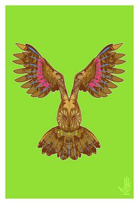 Flying Owl Original by Nelson Garcia