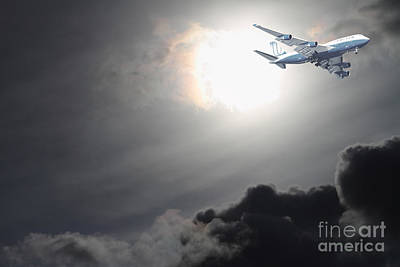 Flying The Friendly Skies Print by Wingsdomain Art and Photography