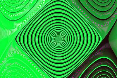 Focus On Green Print by Carolyn Marshall