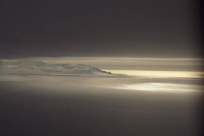 Fog And Sunlight Over Polar Print by Gordon Wiltsie