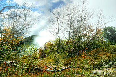 Fog On Mountain Top Print by Joe Myeress