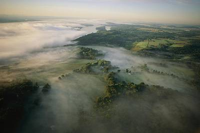 Saugerties Photograph - Fog Settles Into The Hudson River by Melissa Farlow