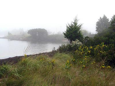 Bayville Painting - Foggy Bay by Clara Sue Beym