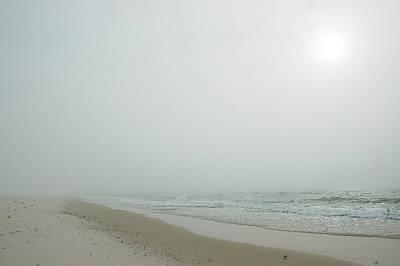Foggy Beach Print by Michael Thomas