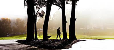 Walking The Dog Digital Art - Foggy Day To Walk The Dog by Harry Neelam