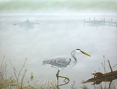 Foggy Morning Escape Print by Jim Ziemer