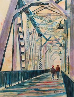 Train Painting - Foggy Morning On The Railway Bridge IIi by Jenny Armitage
