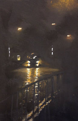 City Pastel - Foggy Street 4 by Paul Mitchell