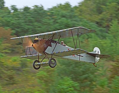 Fokker Dvii 01 Print by Jeff Stallard