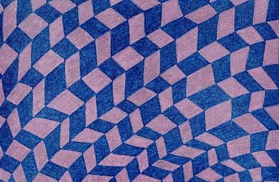 Folds Print by Lesa Weller