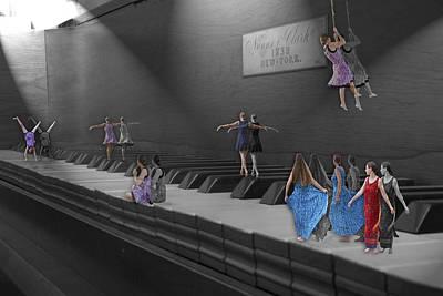 Piano Digital Art - Following My Lead by Betsy Knapp