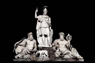 Fontana Della Dea Roma Tra Il Tevere E L'aniene Print by Fabrizio Troiani