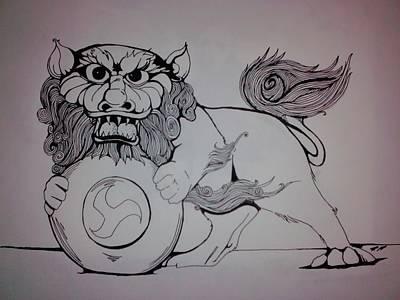 Foo Lion Print by Ronald Mcduff