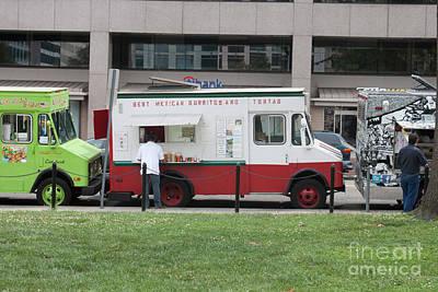 Food Truck Washington Dc Print by Thomas Marchessault