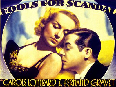 Fools For Scandal, Carole Lombard Print by Everett