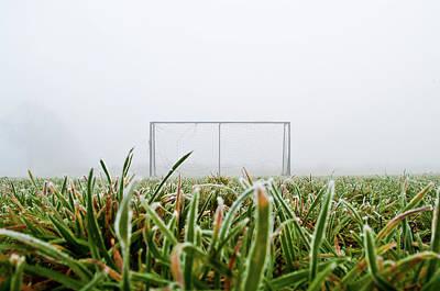 Football Goal Print by Ulrich Mueller