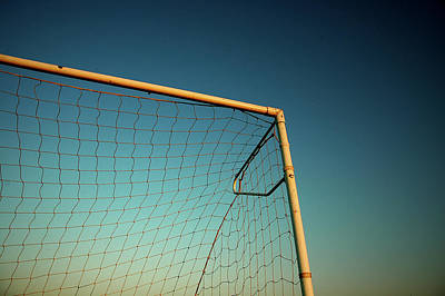 Football Goalpost And Net Print by Kevin Button