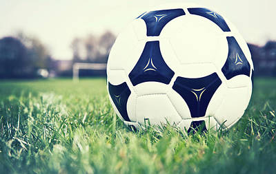 Soccer Photograph - Football by Sally Anscombe