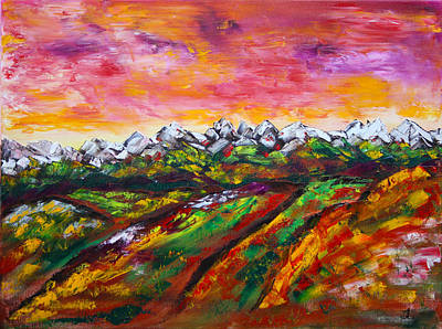 Prairie Painting - Foothills Fall by James Bryron Love
