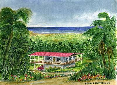 Puerto Rico Painting - Foothills Of El Yunque Puerto Rico by Frank Hunter