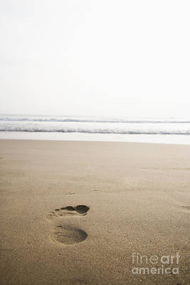 Footprint In The Sand Print by Shannon Fagan