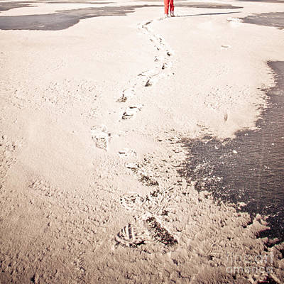 Footprints In The Snow Print by Christina Klausen