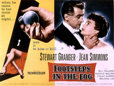 Footsteps In The Fog, Stewart Granger Print by Everett