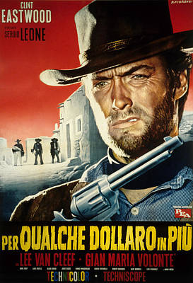 Postv Photograph - For A Few Dollars More, Clint Eastwood by Everett