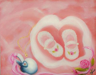 Family Painting - For Baby by Joni McPherson