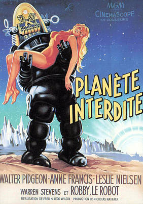 Forbidden Planet, Robby The Robot Print by Everett
