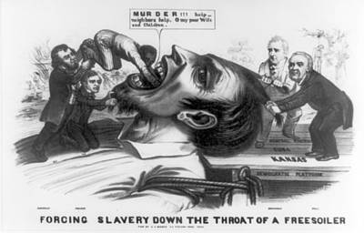 Abolition Photograph - Forcing Slavery Down The Throat by Everett