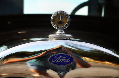 Ford Model T Hood Ornament Print by Bill Cannon