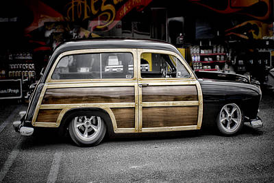 Ford Woody Wagon Print by Ron Roberts