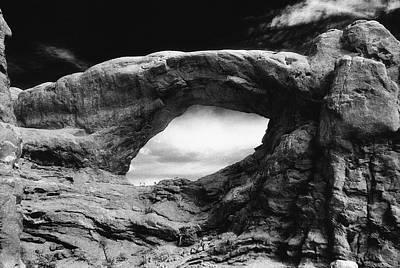 Foreboding Rock Formation Print by Richard Elkins