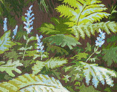 Forest Floor Painting - Forest Floor by Sandy Tracey