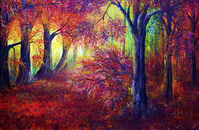 Acrylic Painting - Forever Autumn by Ann Marie Bone