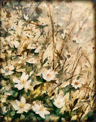 Floral Mixed Media - Forgotten Daisies by Georgiana Romanovna