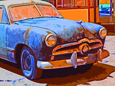 Forlorn 1949 Ford  Front Study Print by Samuel Sheats