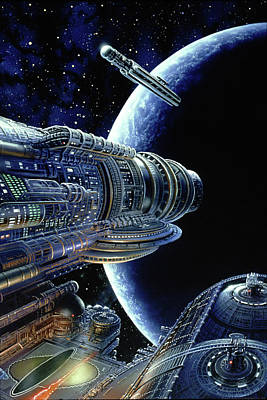 Painting - Foundation Trilogy by Don Dixon