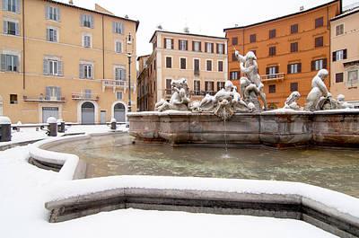 Fountain Of Neptune Print by Fabrizio Troiani
