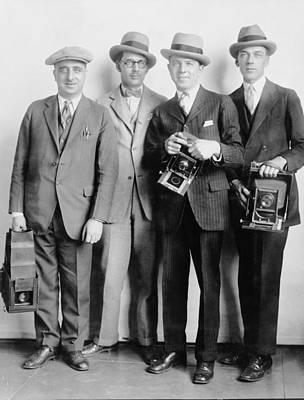 Four Members Of The White House News Print by Everett