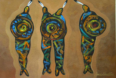 Native Painting - Four Natives by Lance Headlee
