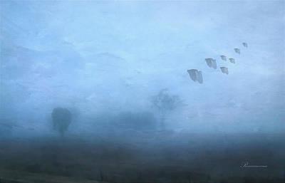 Four Seasons Winter Arrives Print by Georgiana Romanovna